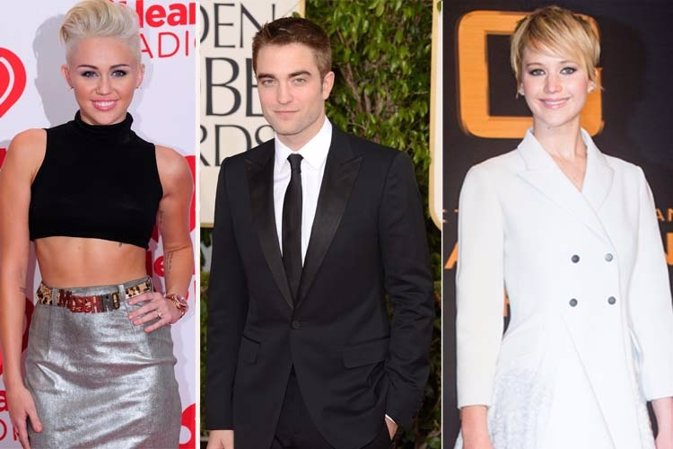 Miley Cyrus, Robert Pattinson, Jennifer Lewrence