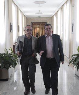 Joan Coscubiela, De ICV, Y José Luis Centella, De IU