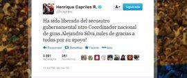 Liberan al coordinador de campaña de Capriles detenido este sábado