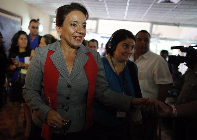 La candidata presidencial de LIBRE, Xiomara Castro.