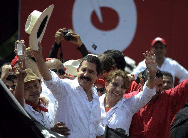 Manuel Zelaya y  Xiomara Castro