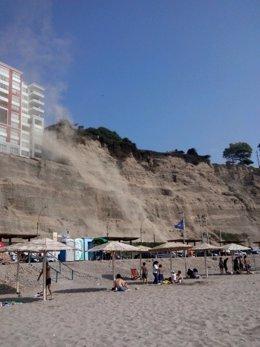 Costa Verde, en Perú, caída de piedras por seísmo