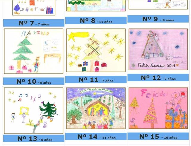ms de dibujos optan a ganar el concurso de tarjetas navideas para nios del complejo de jan