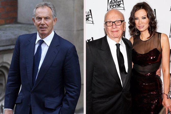 Tony Blair, posible causante del divorcio de Rupert Murdoch