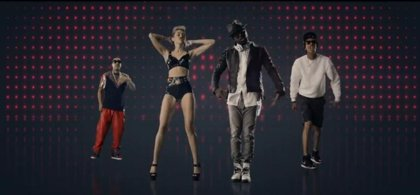 Miley Cyrus y Will.i.am en el videoclip de 'Feeling myself'