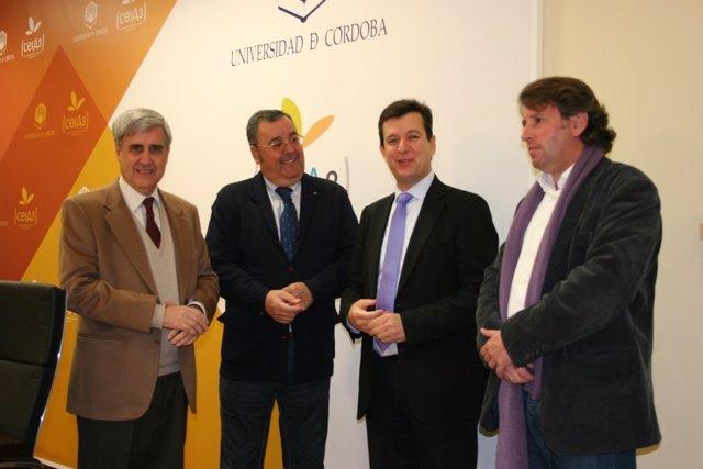 Juan José Badiola, Antonio Arenas, Justo Castaño y Antonio Casas