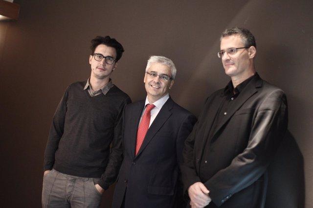 Marc Piollet, Ignacio García-Belenguer y Damiano Michieletto