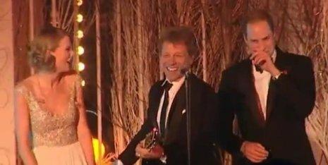 Taylor Swift, Jon Bon Jovi y el príncipe Guillermo