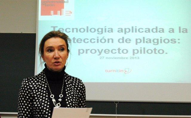 La vicerrectora de Campus, María Victoria Seco.