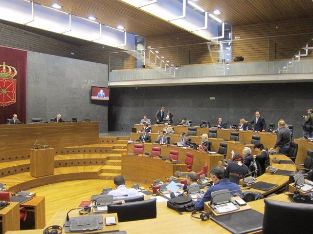 Pleno del Parlamento de Navarra.