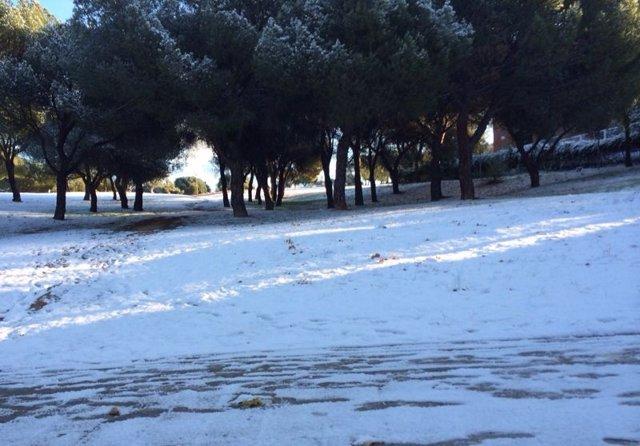 Nieve en Pozuelo de Alarcón
