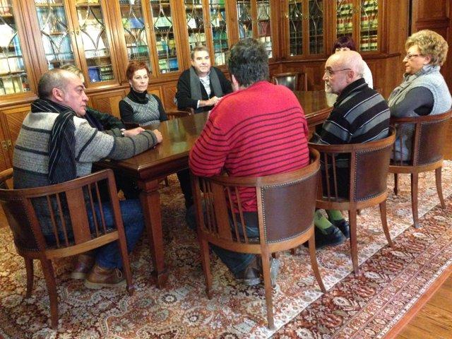 Garitano reunido con familiares de presos de ETA.