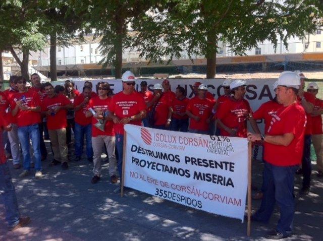 Protesta Corsan-Corviam