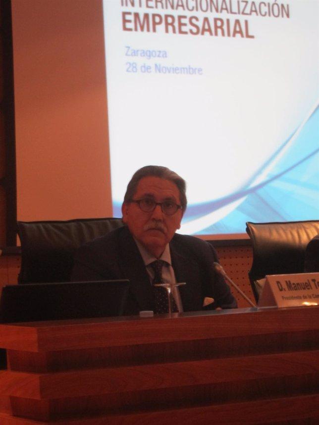 El presidente del Consejo Superior de Cámaras de Comercio, Manuel Teruel.