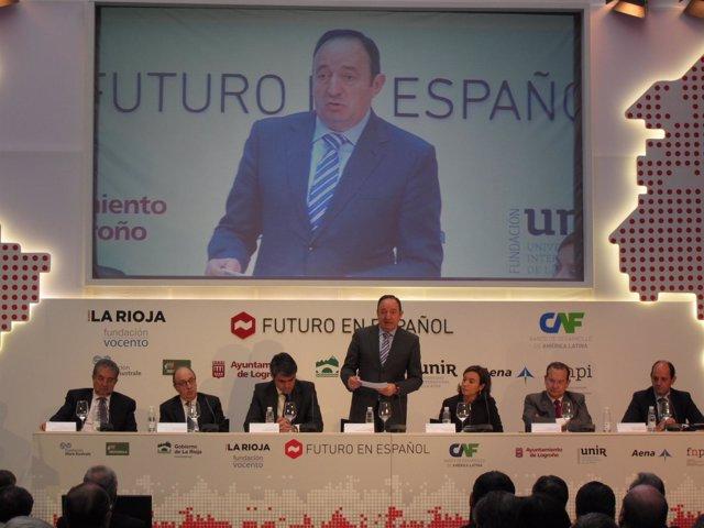 Sanz inaugura jornadas 'Futuro Español' de Vocento y CAF