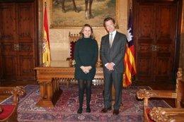 Salom recibe al delegado de ICEX en Baleares