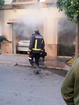 Incendio en Lora del Río.