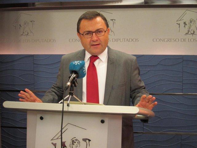 El coordinador de la Interparlamentaria del PSOE-A, Miguel Ángel Heredia