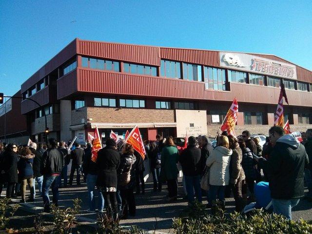 Protesta de trabajadores de Freiremar