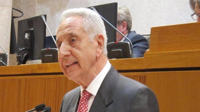 El consejero de Agricultura, Ganadería y Medio Ambiente, Modesto Lobón.