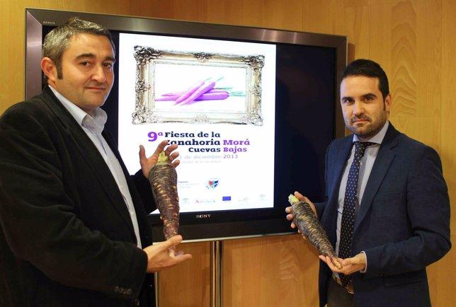 Florido y Ginés, en la presentación del evento.