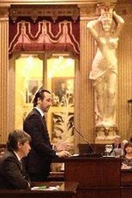 El presidente del Gover, José Ramón Bauzá, en el Parlament