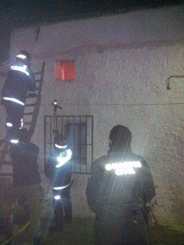 Incendio en Cortijos Nuevos (Jaén)