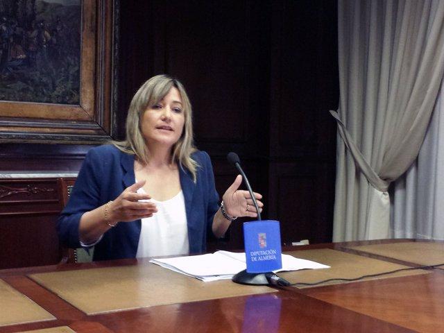 La portavoz del PSOE en la Diputación de Almería, Esperanza Pérez