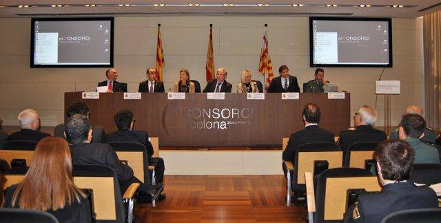 Reunión de la delegada Llanos de Luna con los cónsules en Catalunya.