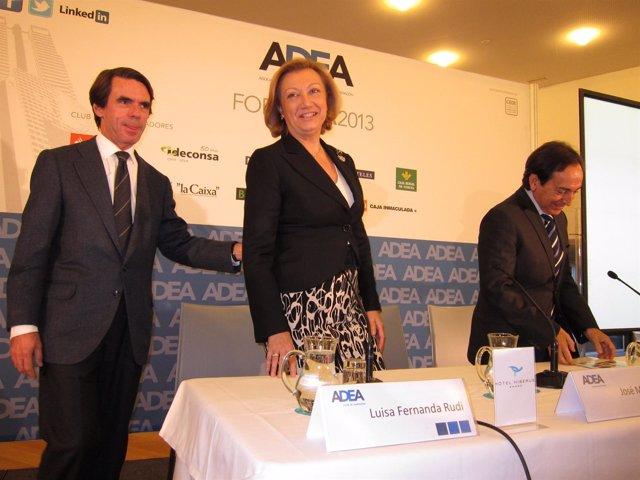José María Aznar, Luisa Fernanda Rudi y Salvador Arenere