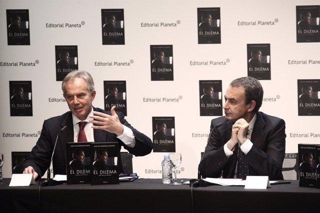 Tony Blair y José Luis Rodríguez Zapatero