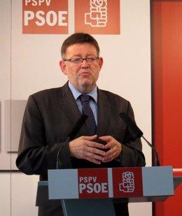 Ximo Puig (PSPV) en rueda de prensa
