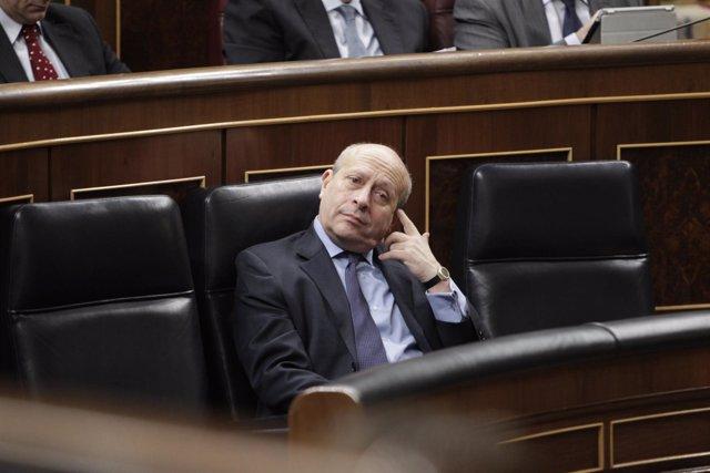 El ministro Wert durante la aprobación de la Lomce en el Congreso