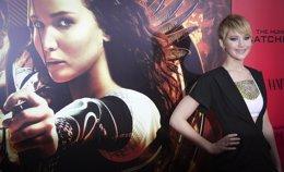 Jennifer Lawrence en premiere de Los Juegos del Hambre en Llamas