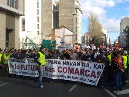 Manifestación por el naval en Ferrol