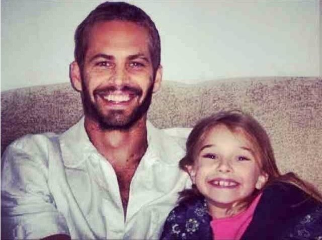 Paul Walker y su hija
