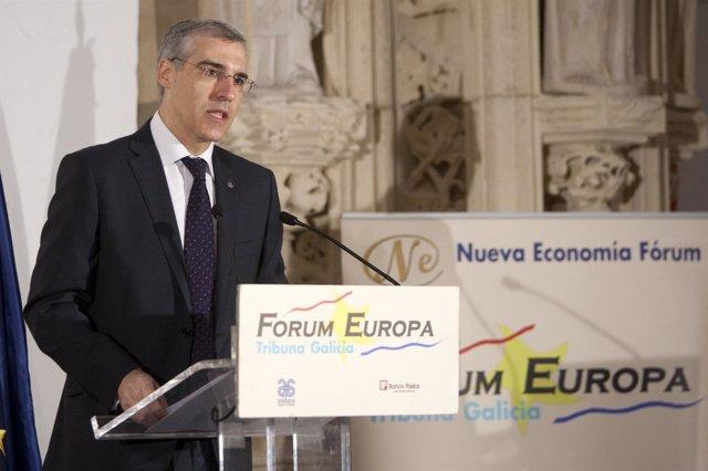 Francisco Conde en el desayuno informativo de Forum Europa