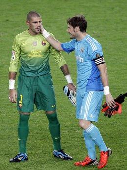 Víctor Valdés (FC Barcelona) e Iker Casillas (Real Madrid)