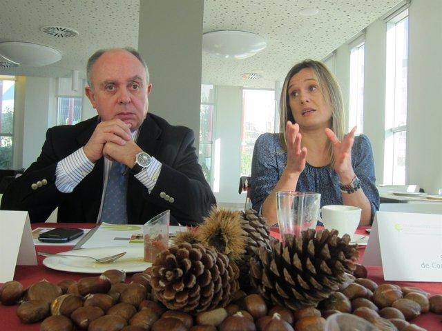 El presidente de Confemadera, Elier Ojea, y la secretaria general, Ana Oróns