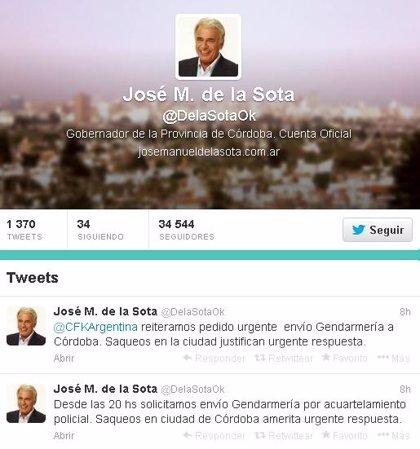 El Gobierno argentino envía 2.000 efectivos de Gendarmería a Córdoba