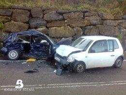 Accidente  de tráfico en Soto del Barco