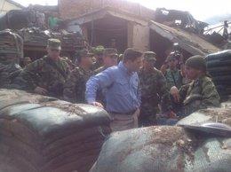 El ministro de Defensa de Colombia, Juan Carlos Pinzón