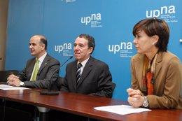 De izquierda a derecha, Alberto Catalán, Julio Lafuente y Eloísa Ramírez.