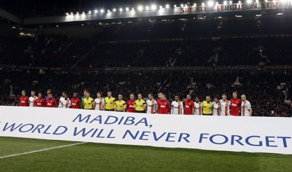 El fútbol europeo rinde homenaje a Mandela