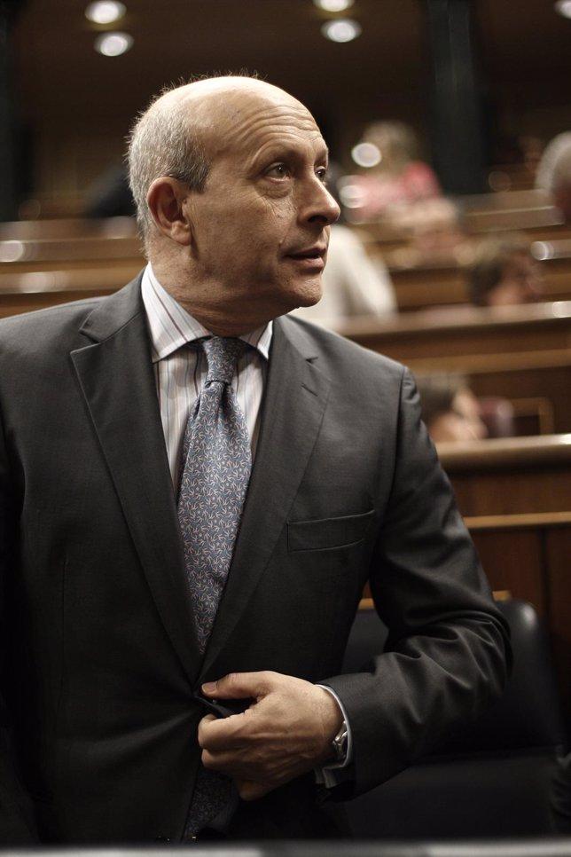 José Ignacio Wert, ministro de Educación, en el hemiciclo