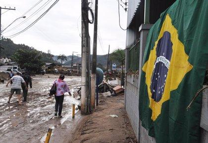 El temporal deja la primera víctima mortal en Río de Janeiro