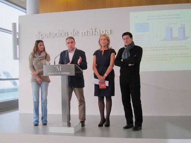 Elías Bendodo presenta los presupuestos de Diputación para 2014