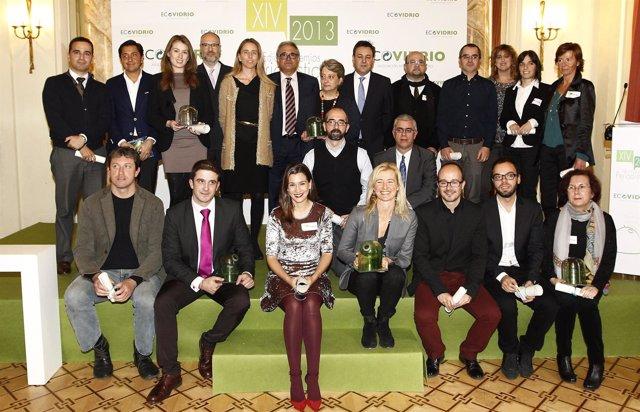 Galardonados de la XIV edición de los Premios Periodísticos Ecovidrio
