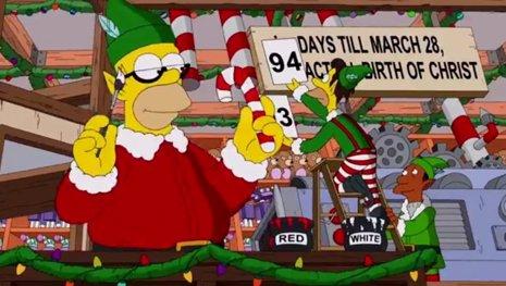 Cabecera de entrada de Los Simpsons para Navidad