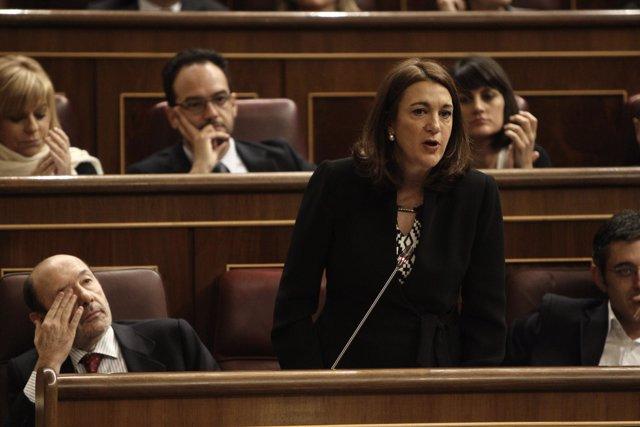 Soraya Rodríguez, en el Pleno del Congreso